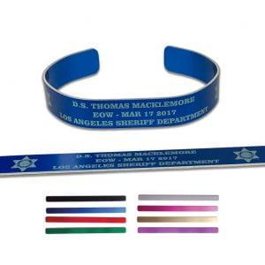 Aluminum Memorial Bracelets Engraved