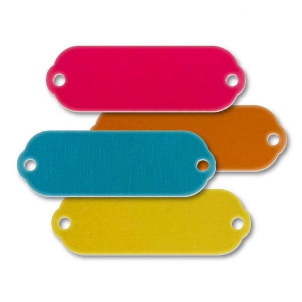 Aluminum Rectangle Rivet-On Blank Tags