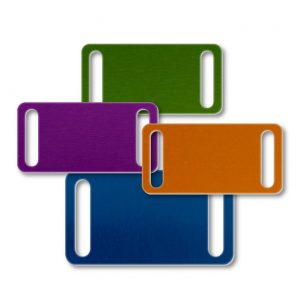 Aluminum Rectangular Slide-On Blank Tag