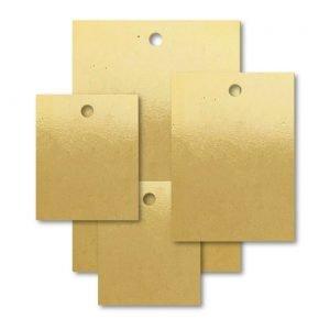 Brass VT Rectangle Blank Tags