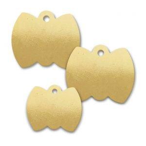 Brass Bow Tie Shape Blank Tags