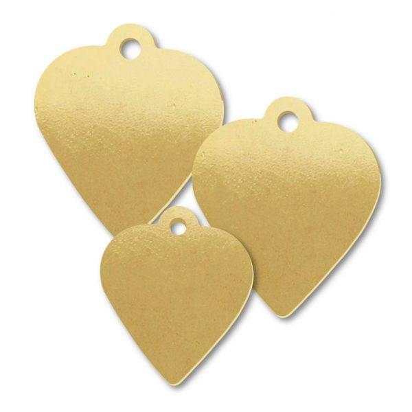 Brass Pendulum Shape Blank Tags