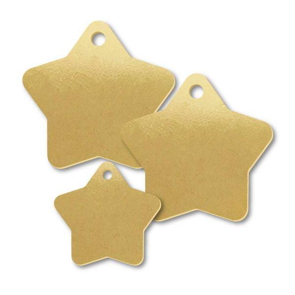 Brass Star Shape Blank Tags