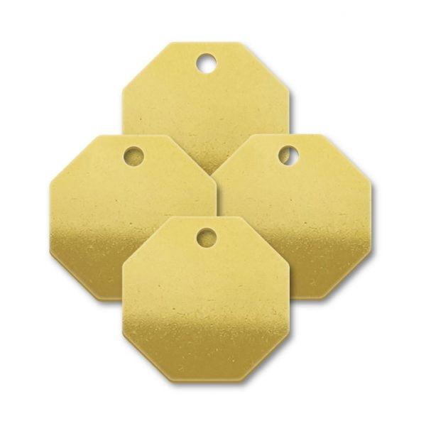 Brass Octagon Shape Blank Tags