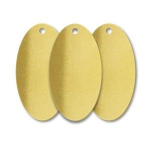 Brass Oval One Hole Blank Tags