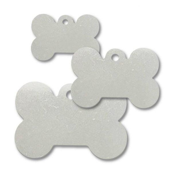Stainless Steel Dog Bone Shape Blank Tags