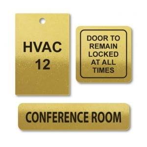 Brass Custom Engraved Tags & Plates