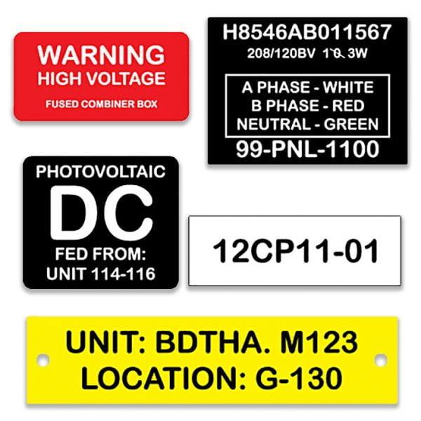 Custom Engraved Phenolic Labels