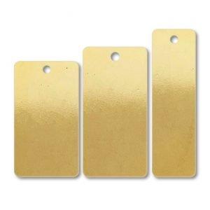 Brass Rectangular One Hole Blank Tags