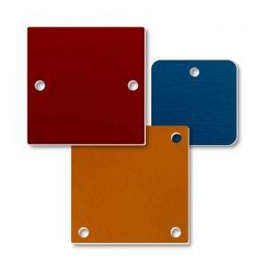 Aluminum Blank Square Nameplates - Stock Sizes