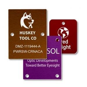 Aluminum Engraved Rectangle Nameplates