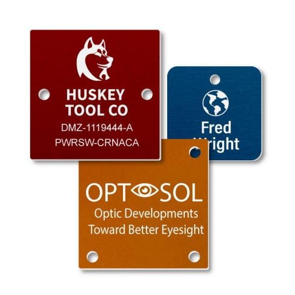Engraved Aluminum Square Nameplates